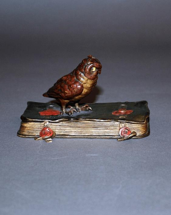 "The statuette ""Owl""Vienna, Austria, bronze - photo 1"