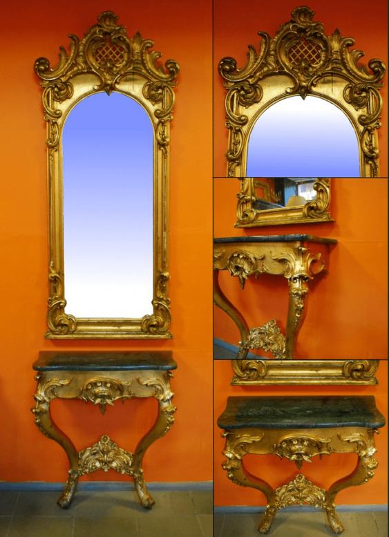 Wall mirror Rococo, 18 in - photo 1
