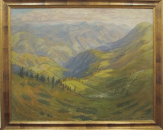 """""""Transcarpathian landscape"""" of 1950-ies - photo 1"""