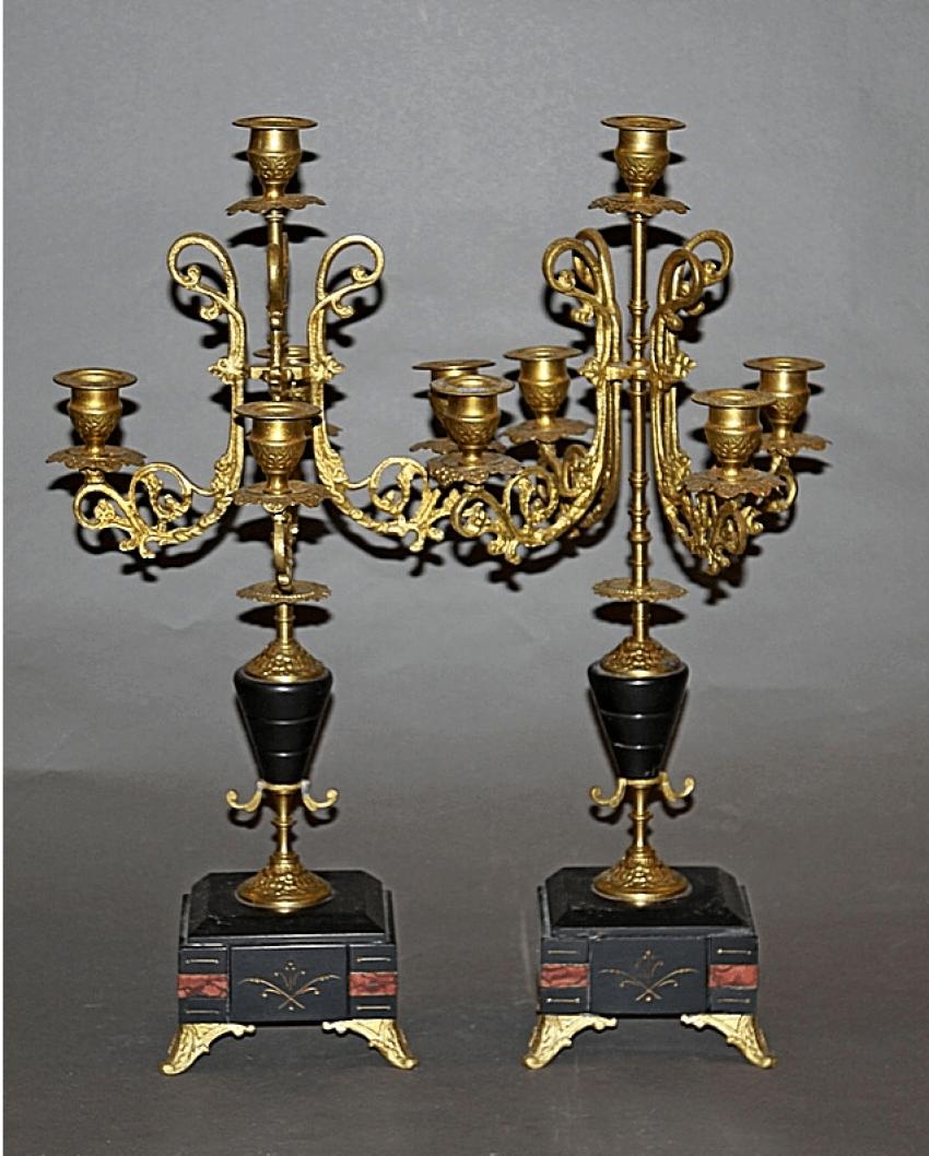 Candelabra pair.Western Europe, bronze - photo 1