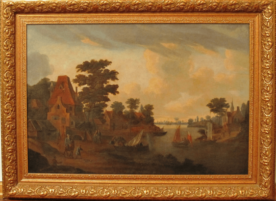 """The picture """"Harbour"""", 18th century Holland,  - photo 1"""