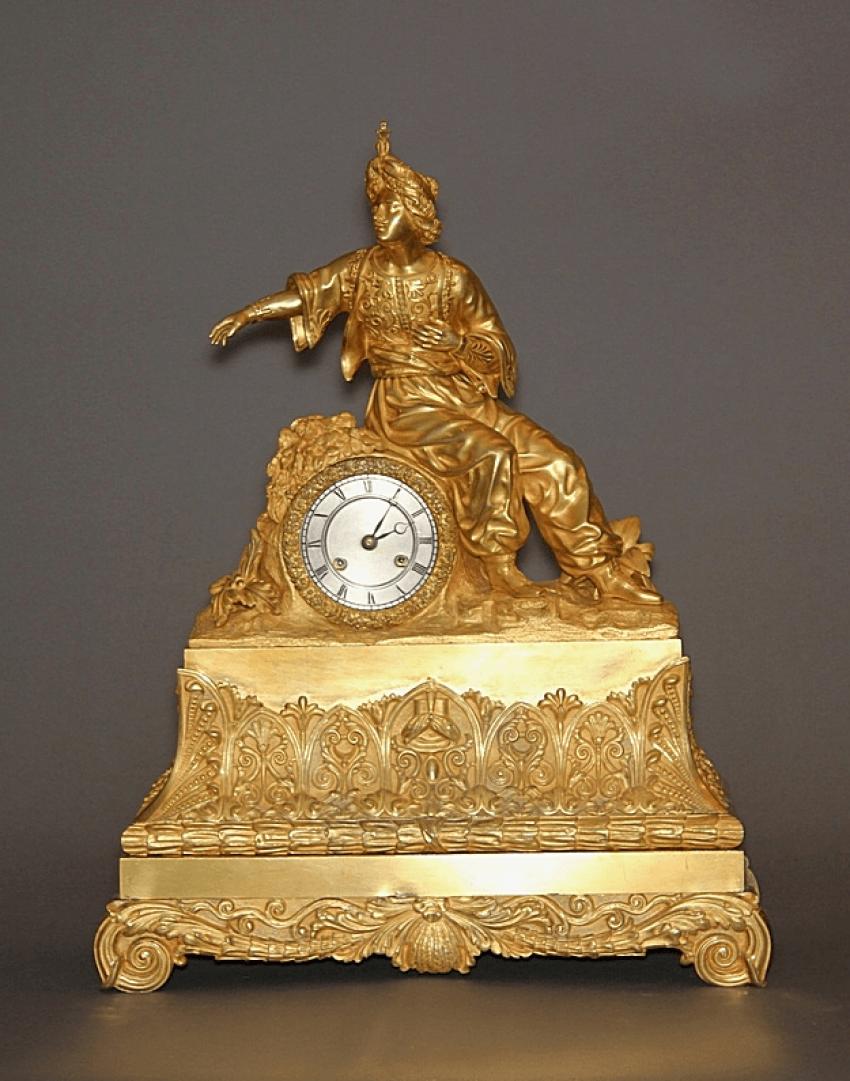 Mantel clock.France, bronze, - photo 1
