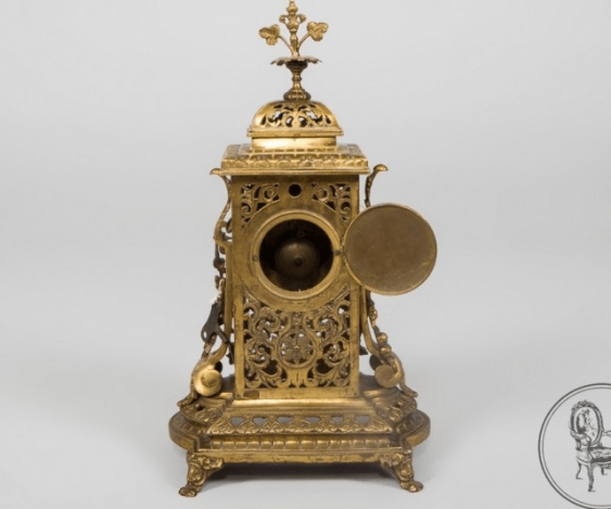 Clock and two candlesticks - photo 3