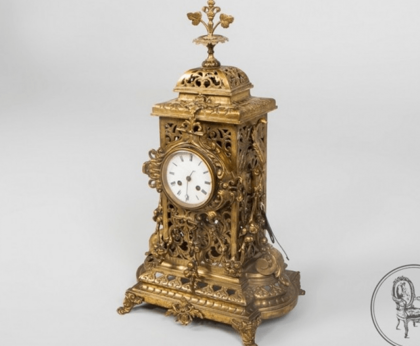 Clock and two candlesticks - photo 4