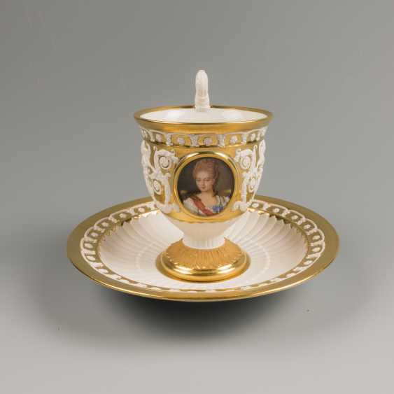 Cup and saucer KPM 19th century - photo 1