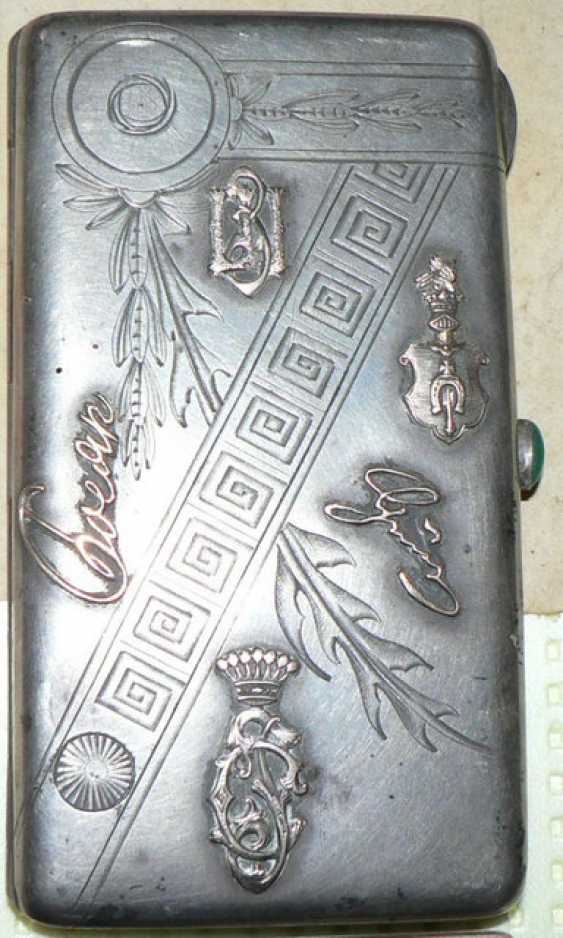 The cigarette case. Russia of the XIX-th century 84 Ave. - photo 1