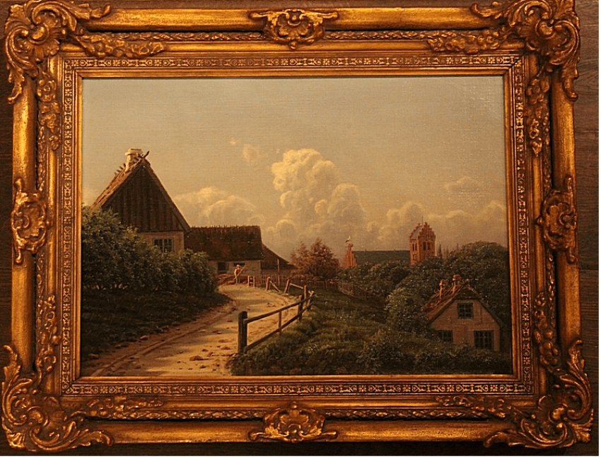 Rural landscape Carl Hansen (1873 -1954) Denmark - photo 1