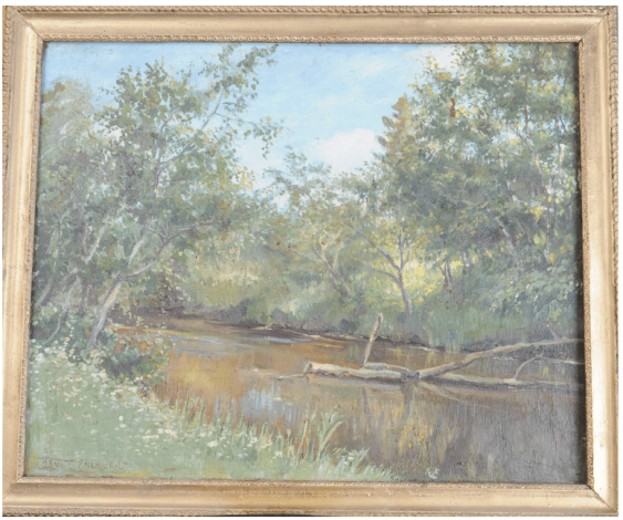 Summer landscape with pond Emelianov Sergey (1884 - 1991) - photo 1