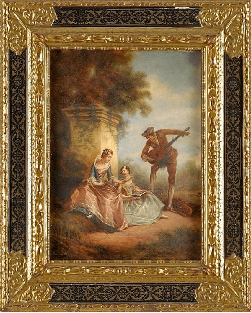Gallant scene, Western Europe, 1870 - photo 1