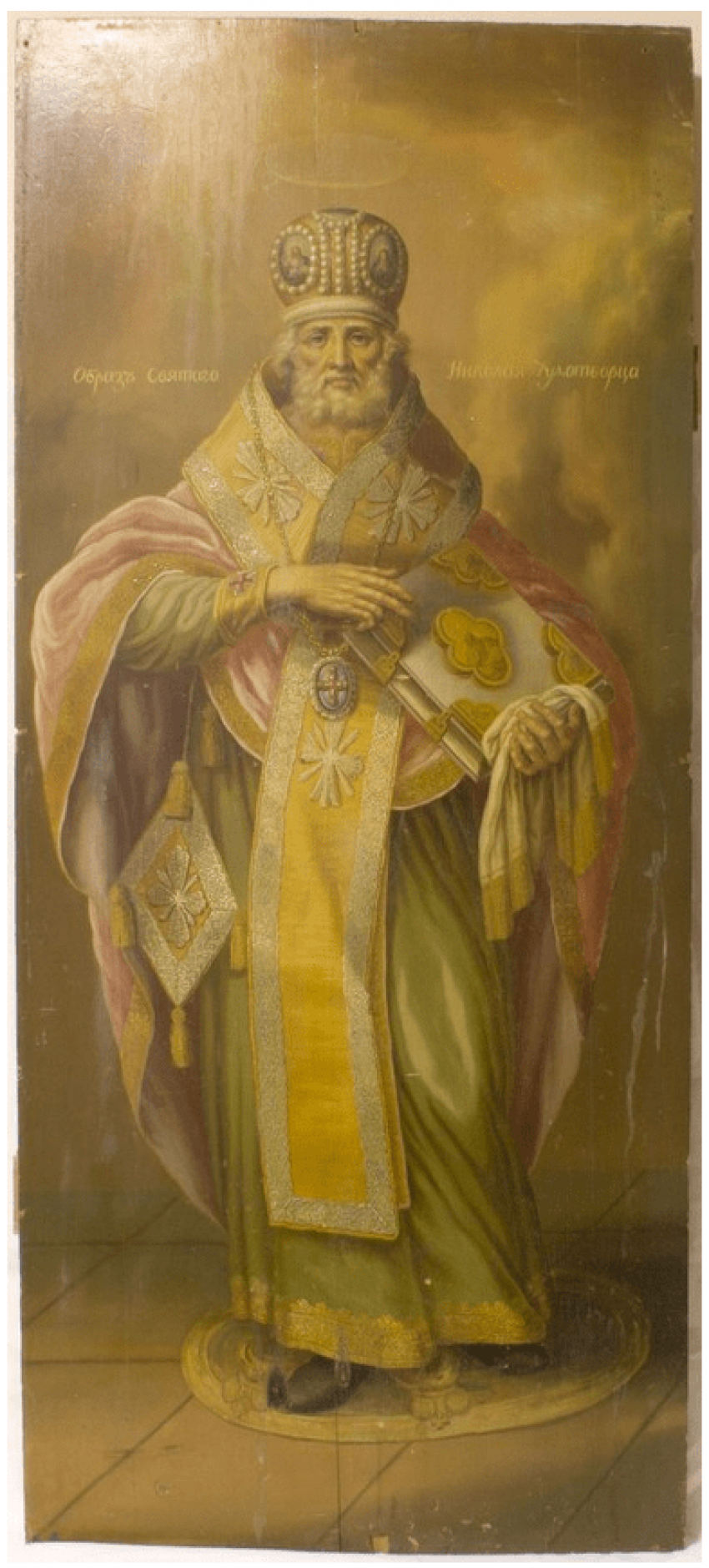 Образ Николая Чудотворца 19 век, - фото 1