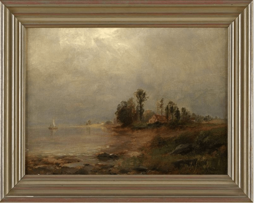 The house on the shore author; Heinrich Boehmer (1852 - 1930) - photo 1