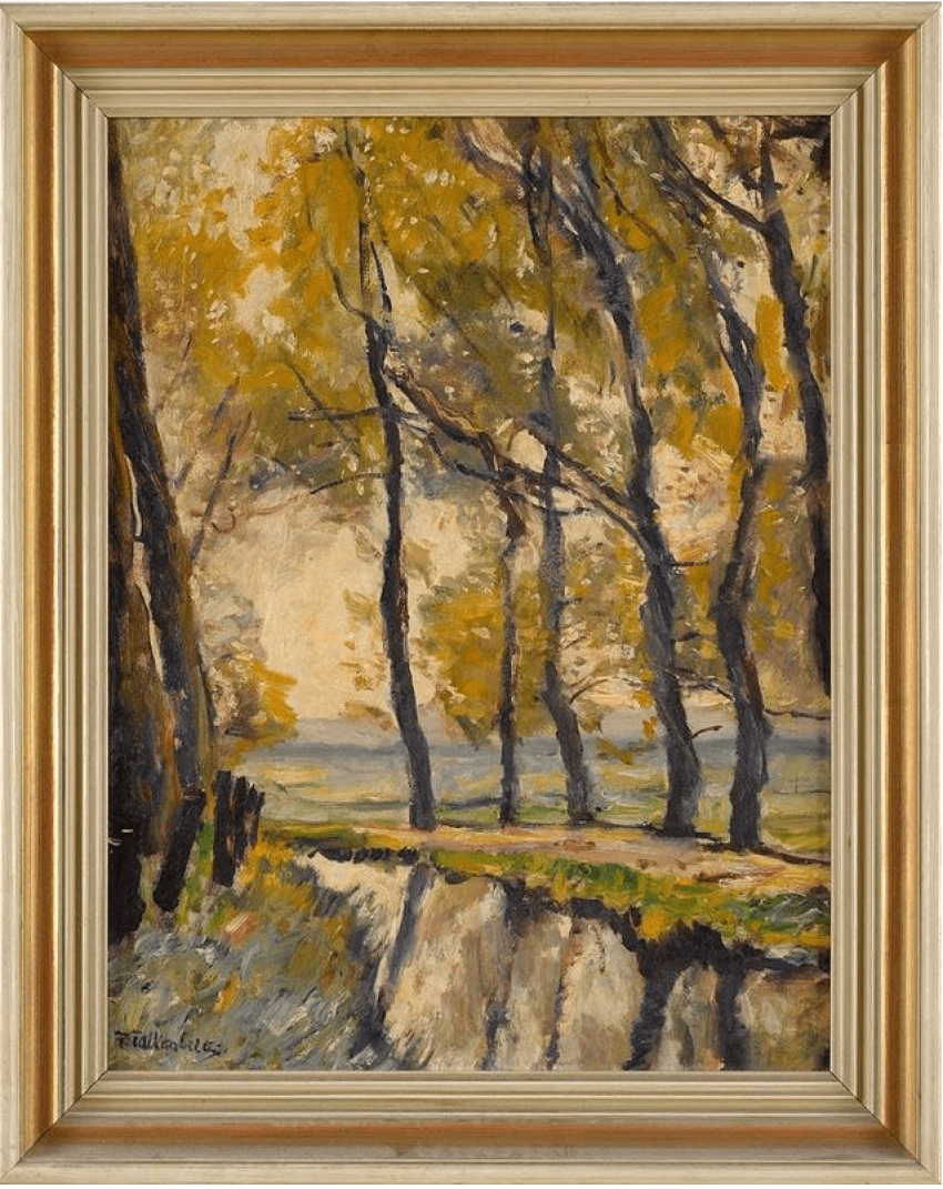 Autumn landscape Richard Falkenberg (1875 - 1948) Germany - photo 1
