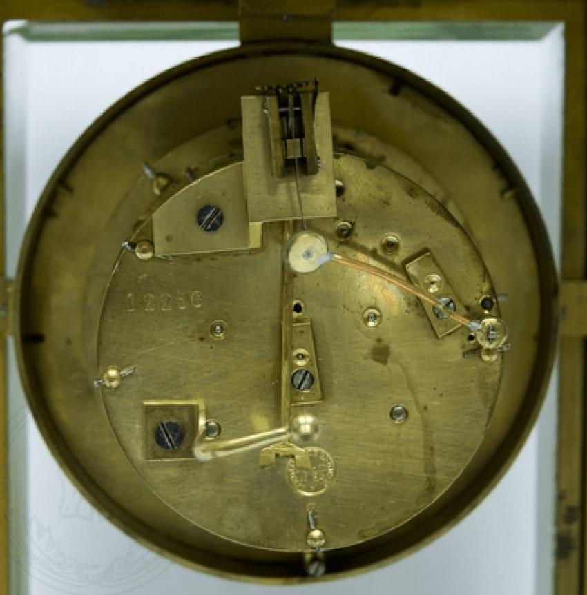 Mantel clock with mercury pendulum - photo 2