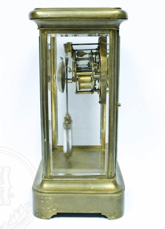 Mantel clock with mercury pendulum - photo 3