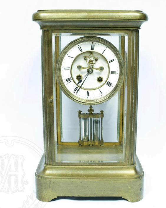 Mantel clock with mercury pendulum - photo 1