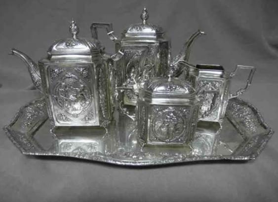 Silver set of 5 Ave. of the twentieth - photo 1