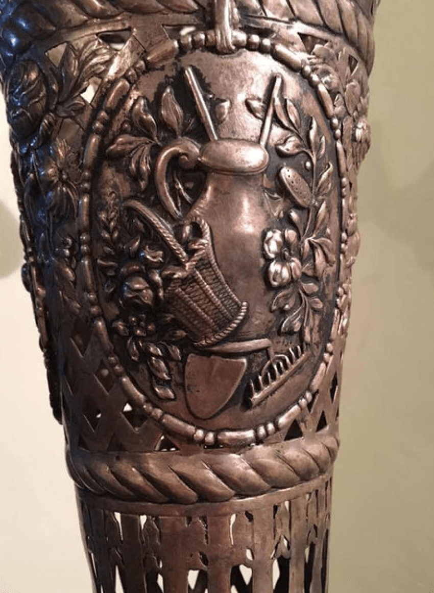 Silver vase 19th century, France - photo 4