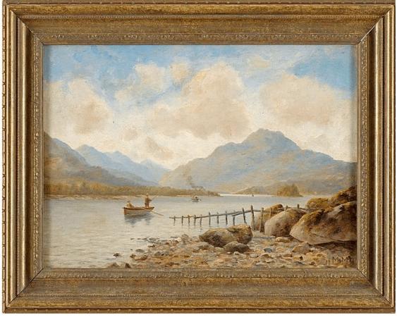 Речной пейзаж с рыбаками Западная Европа, 1898 год - фото 1