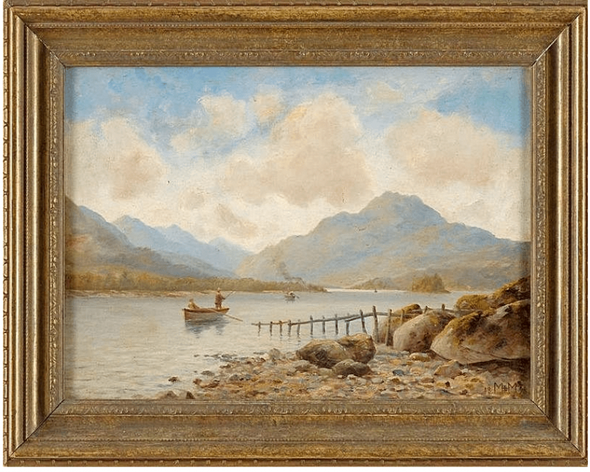 Flusslandschaft mit Fischern Westeuropa, 1898 - Foto 1