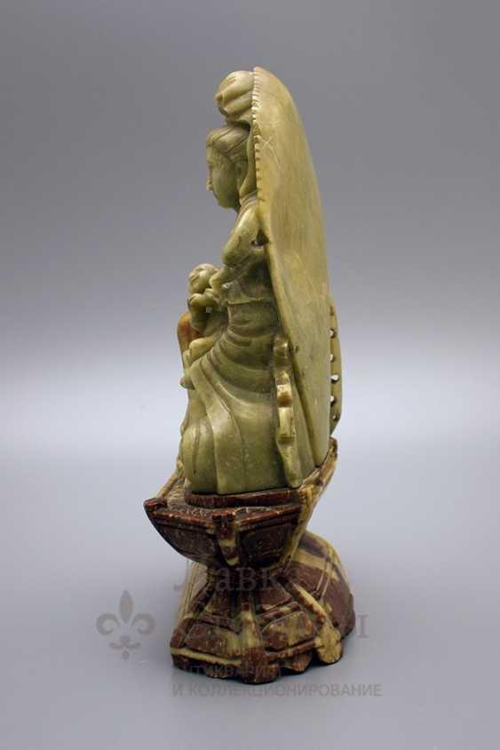 Buddhist statue, soapstone - photo 2