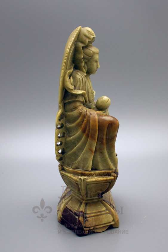 Buddhist statue, soapstone - photo 3