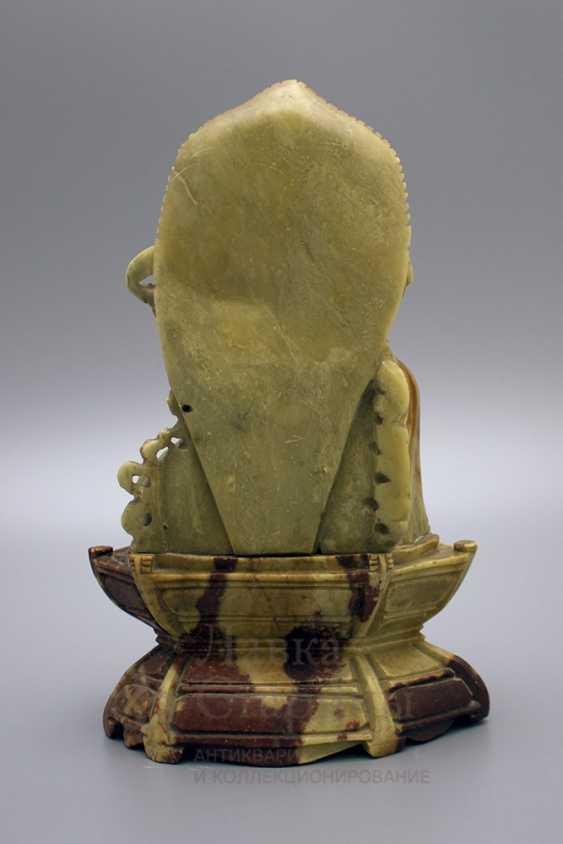 Buddhist statue, soapstone - photo 4