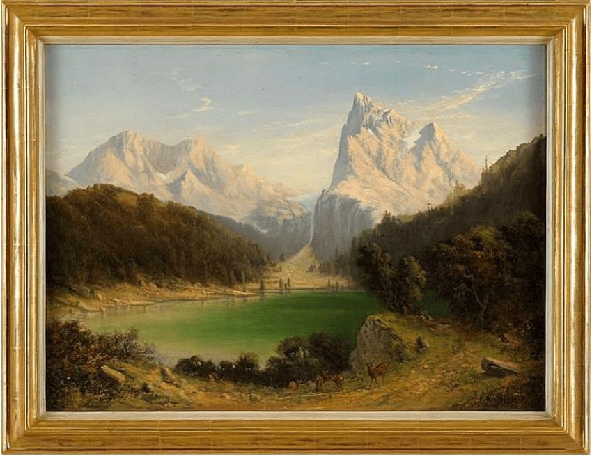 Alpine lake landscape of Western Europe, 1878 - photo 1