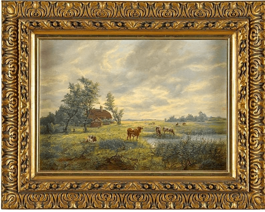 Summer landscape. Pasture Western Europe - photo 1