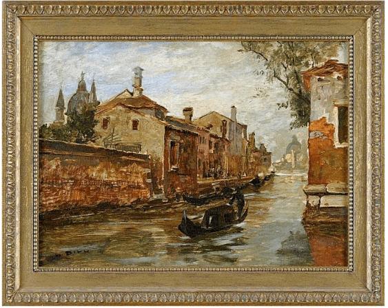 Venezianischen Kanal Ludwig Diehl 2. Februar 1848, Gernsbach - 24. Oktober 1940, Karlsruhe - Foto 1