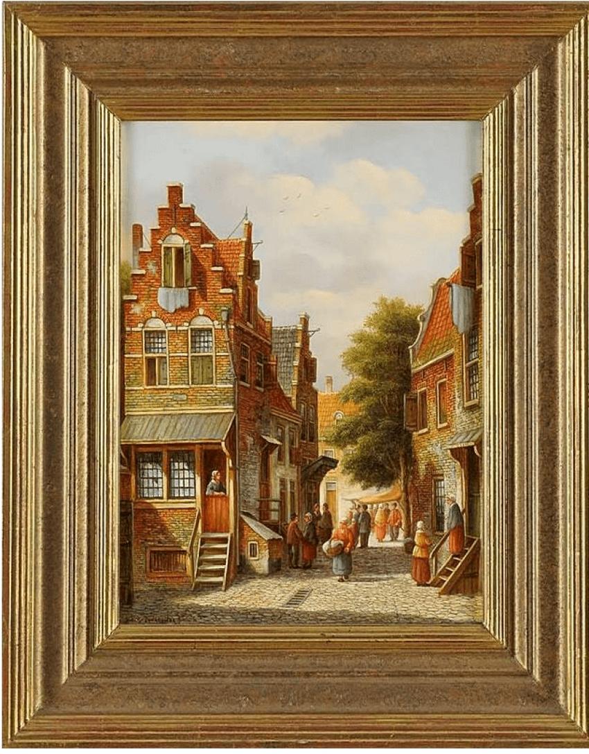 The Dutch urban landscape Peter Cornelis Steenhouwer (1896, Rotterdam - 1976) - photo 1