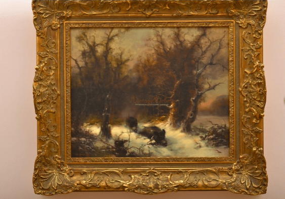 """The Painting """"Wild Boar"""" Oil. 19th century - photo 1"""