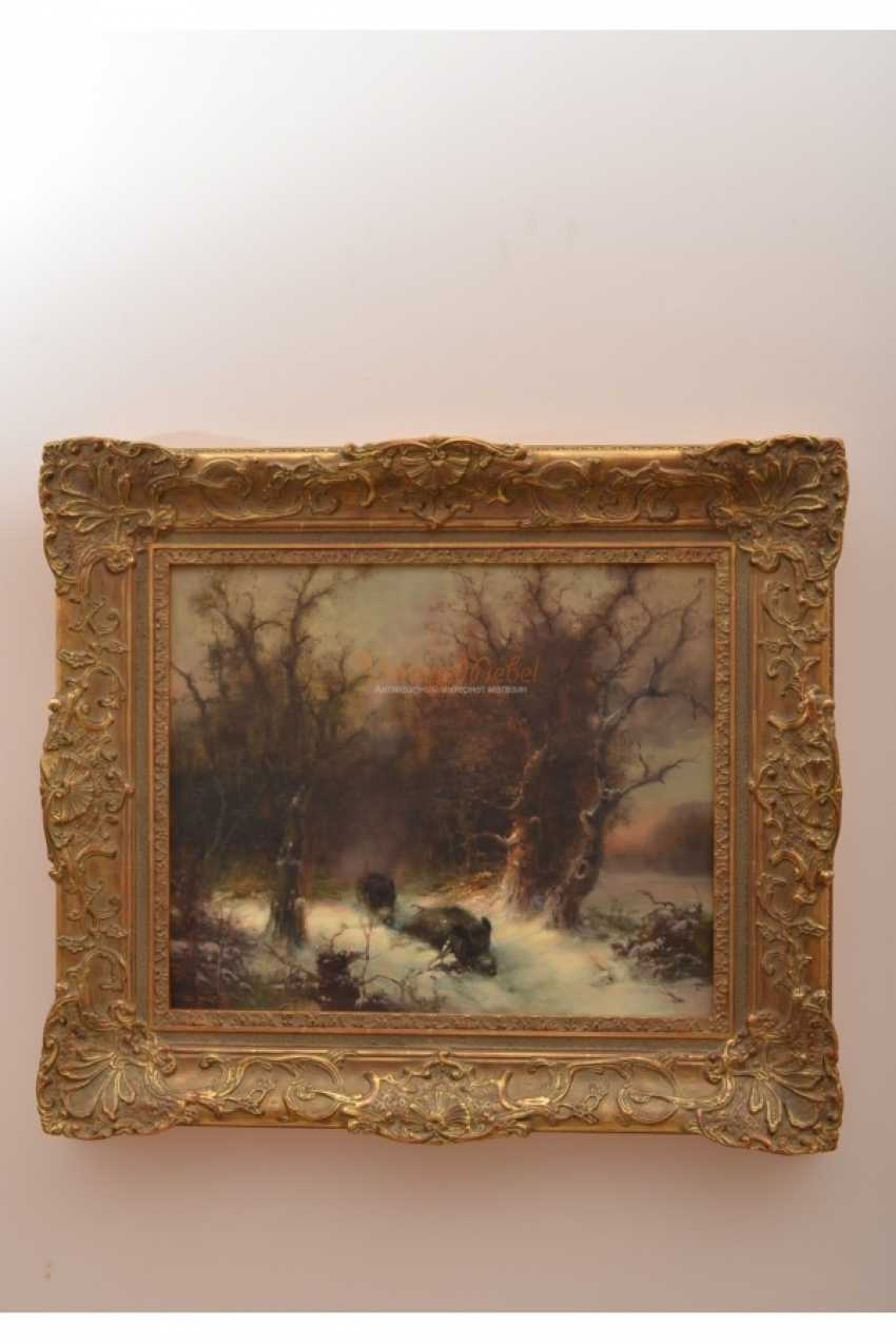 """The Painting """"Wild Boar"""" Oil. 19th century - photo 2"""