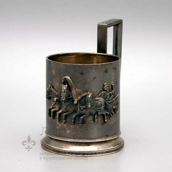 "Holder ""Russian Troika"", Russian, late 19th, early 20th century, silver 84 samples - photo 1"