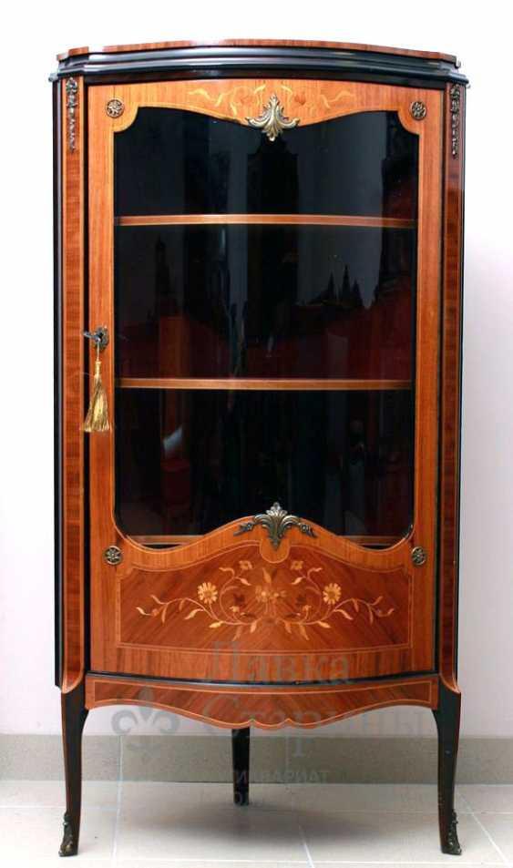 Showcase c, stacked pattern, mahogany, marquetry - photo 1