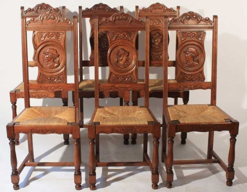 Set of 6 chairs - photo 1