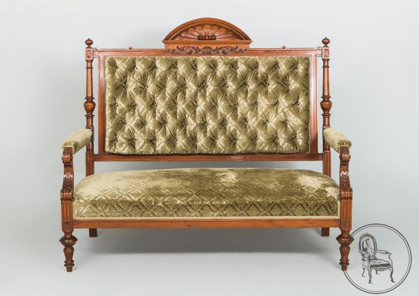 Vintage sofa, settee,twentieth century - photo 1