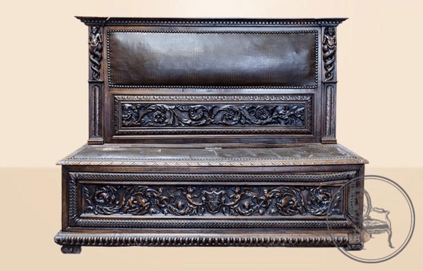 Antique bench of the XIX century - photo 1