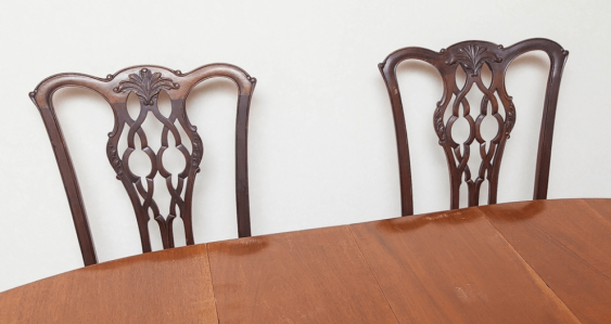 dining room set of furniture of the XIX century - photo 5