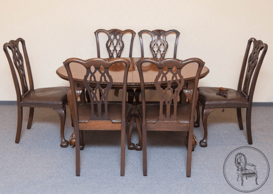 dining room set of furniture of the XIX century - photo 2