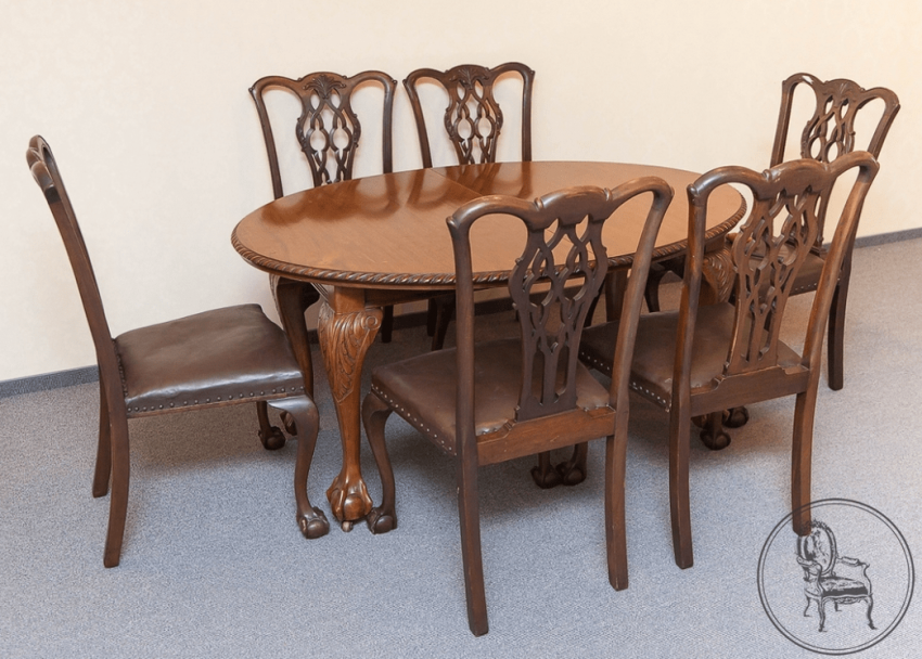 dining room set of furniture of the XIX century - photo 1
