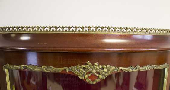 Antique display showcase mahogany with overlays, Europe, 20th century - photo 4