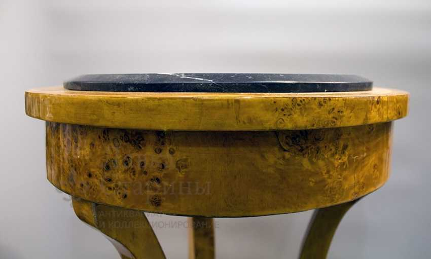 Antique console made of solid birch - photo 3