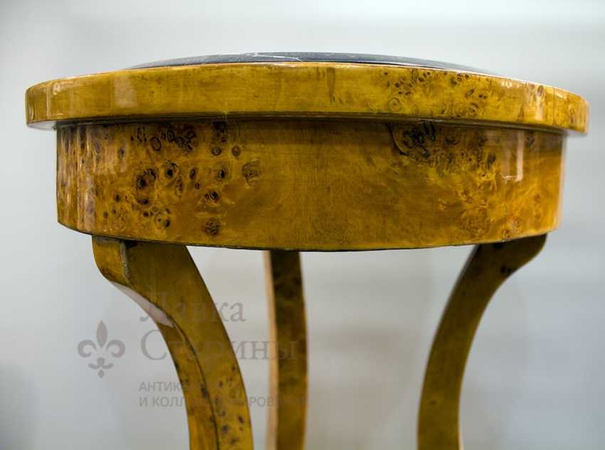 Antique console made of solid birch - photo 5