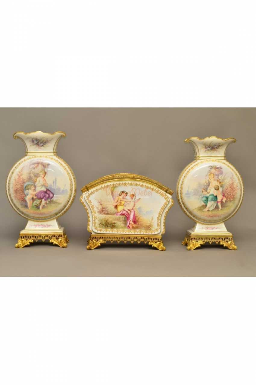 The set of three vases France in 19 - photo 2