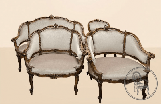 set of upholstered furniture of the XIX century - photo 1
