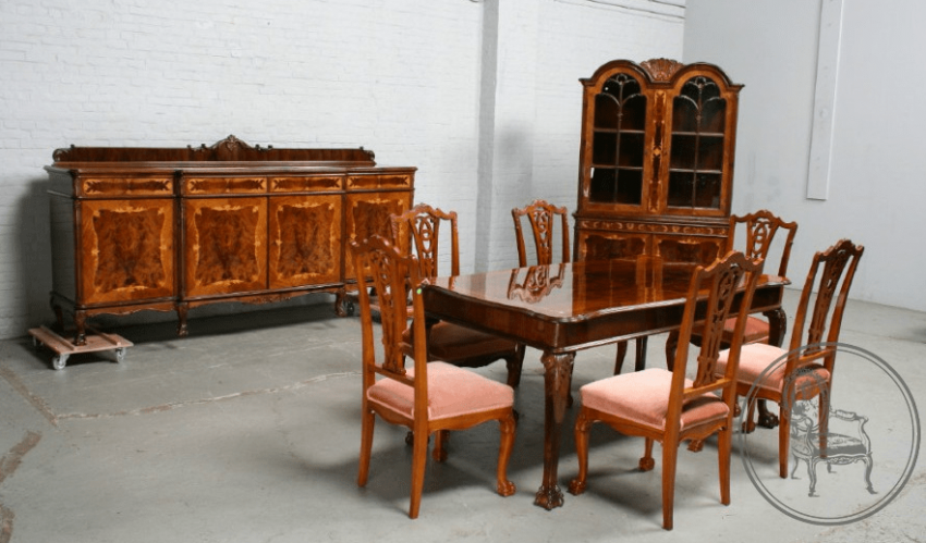 dining room set of furniture of the XX century - photo 1
