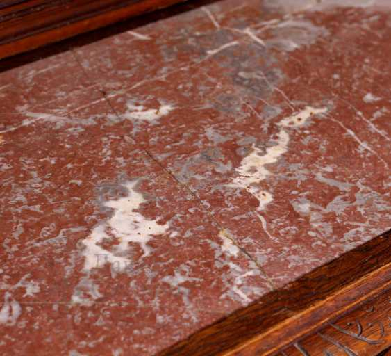 Antique cupboard with marble top - photo 4