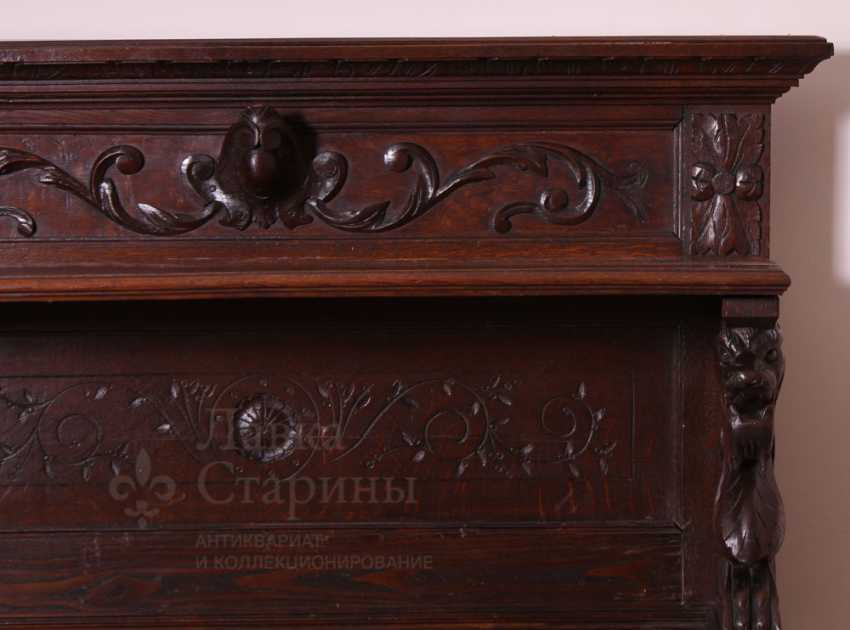 Antique cupboard with marble top - photo 2