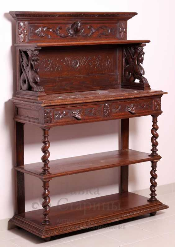 Antique cupboard with marble top - photo 1