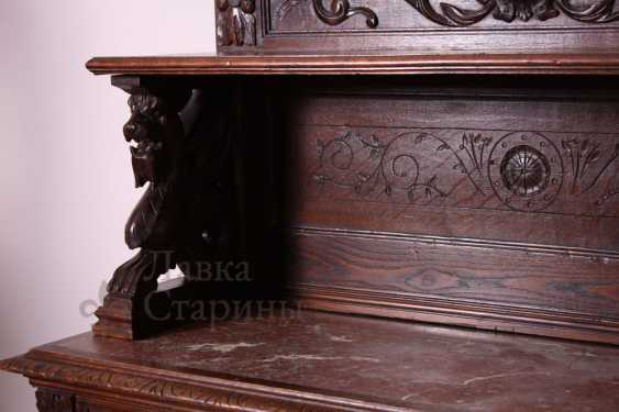 Antique cupboard with marble top - photo 10